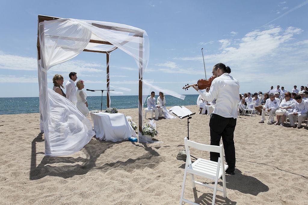 Violin solo boda civil playa