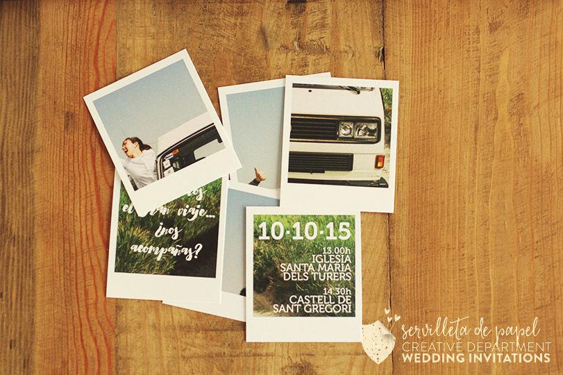 Invitación de boda E&J - Furgoneta