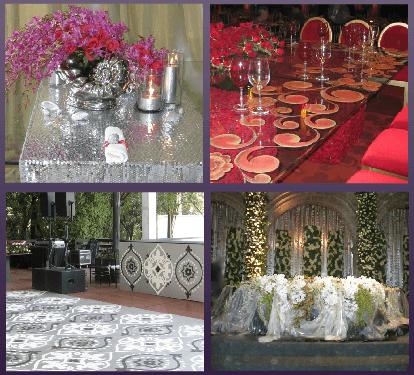 Decoración de boda con diferentes accesorios. Foto: Braiolés