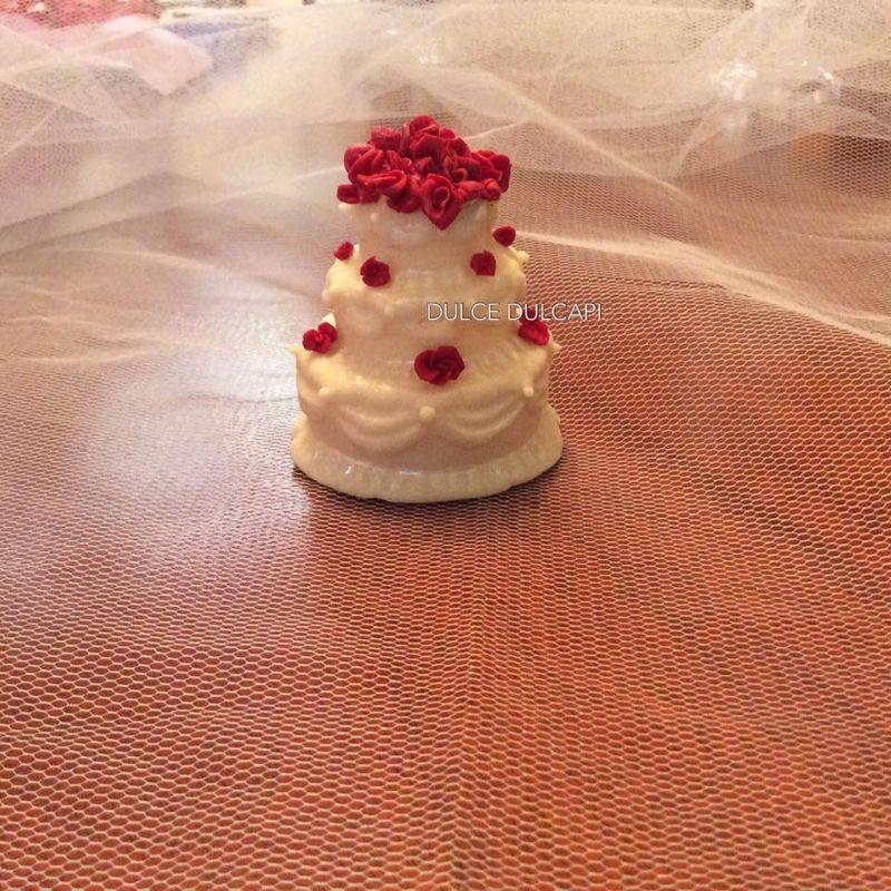 Torta de  chocolate diseño novios