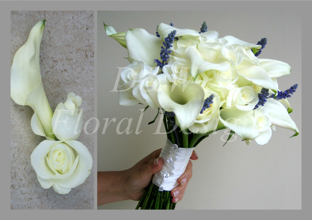 Biała kompozycja florystyczna