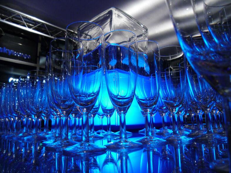 Beispiel: Gläser, Foto: turmBAR.