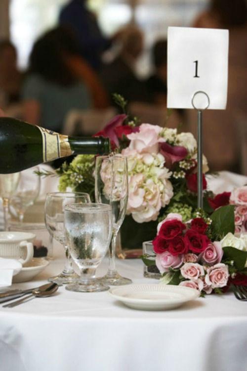 Beispiel: Tischdekoration, Foto: KV-eventgastronomie.
