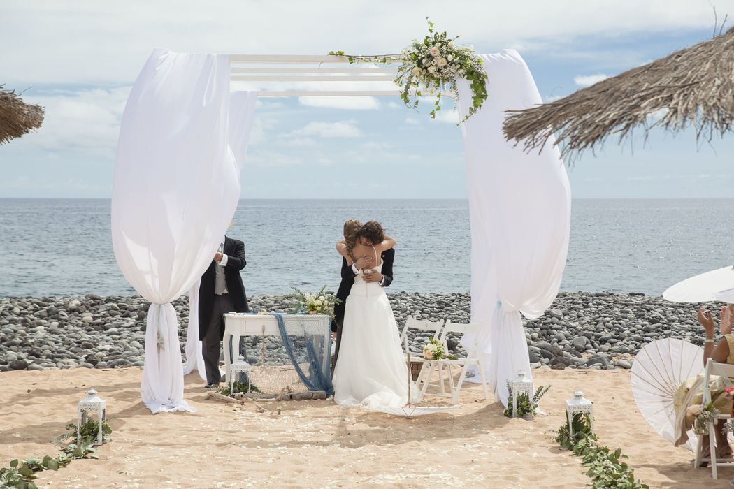 Ceremonia de boda en la playa