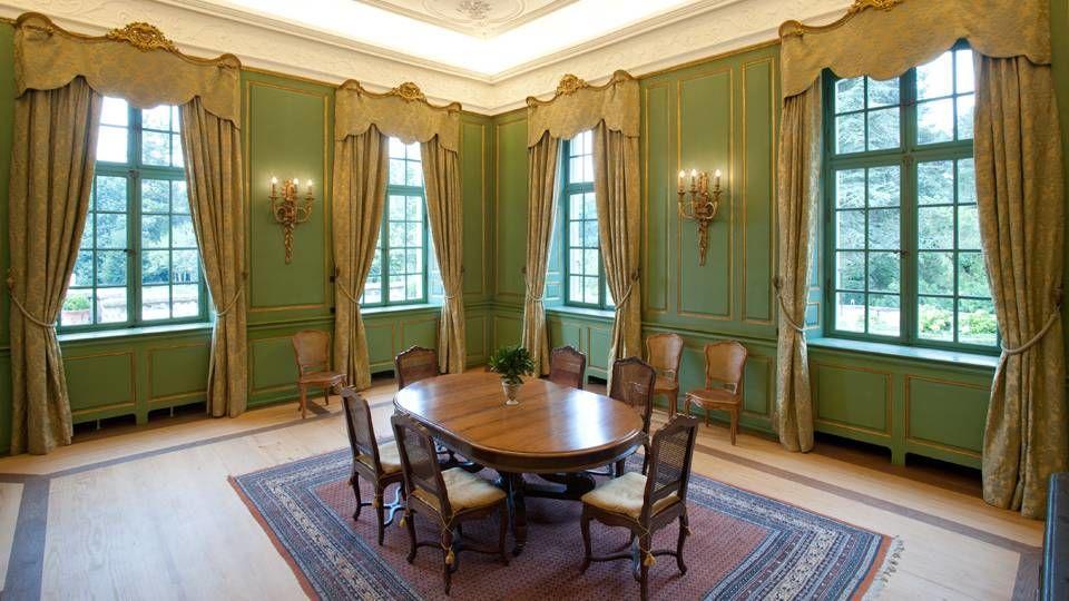 Beispiel: Grüner Salon, Foto: Villa Wenkenhof.