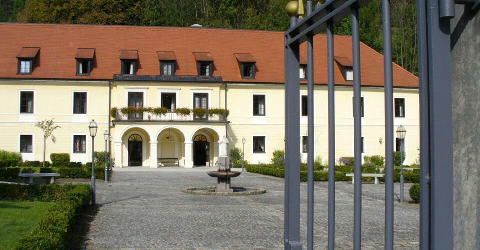 Beispiel: Hotel und Garten, Foto: Kartause Gaming.