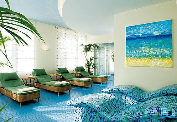 Beispiel: Puria Wellness-Bereich, Foto: Travel Charme Kurhaus Sellin.