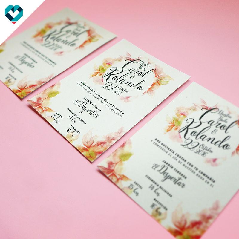 Invitaciones de boda, flores, acuarelas, colores, tu estilo, lo que te gusta.