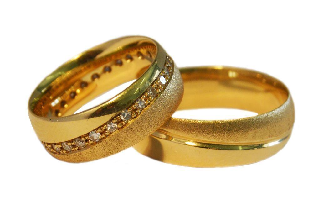 Alianças Casamento Ouro Amarelo ALBIC140