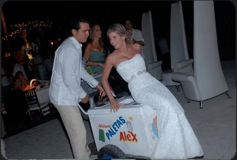 Carrito de paletas. Caty Gomez, Wedding Planner en Riviera Maya