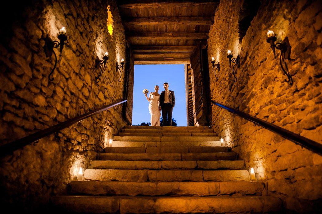 Descente des mariés en Salle voutée