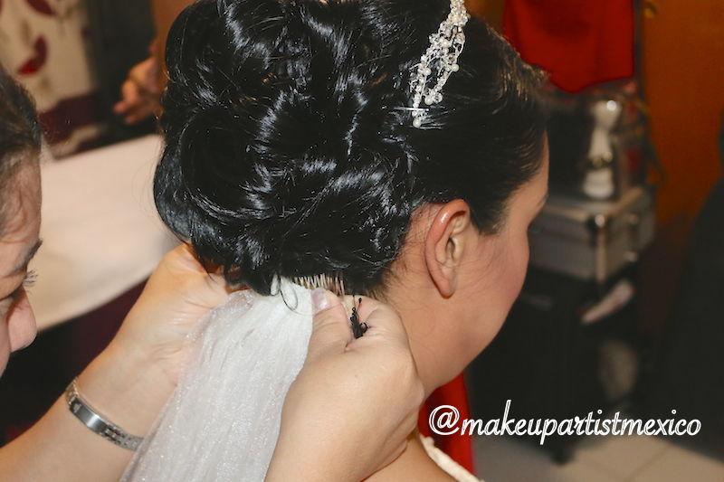 Peinado profesional para novia hermoso y muy elaborado. Makeup Artist Mexico