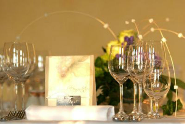 Beispiel: Tischdekoration, Foto: Villa Haar.