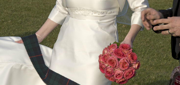 Beispiel: Wunderschöne Brautsträuße, Foto: Blumenbinder Trittmacher.