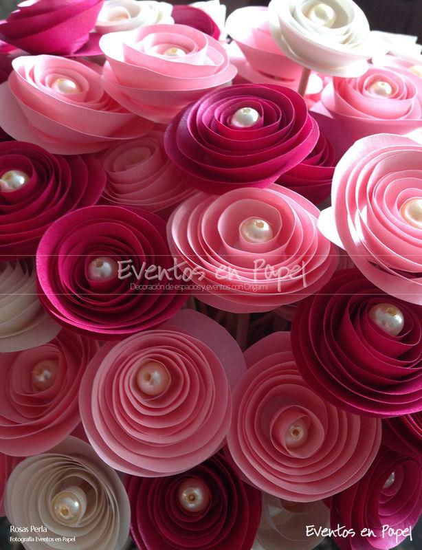 ramo rosa perla