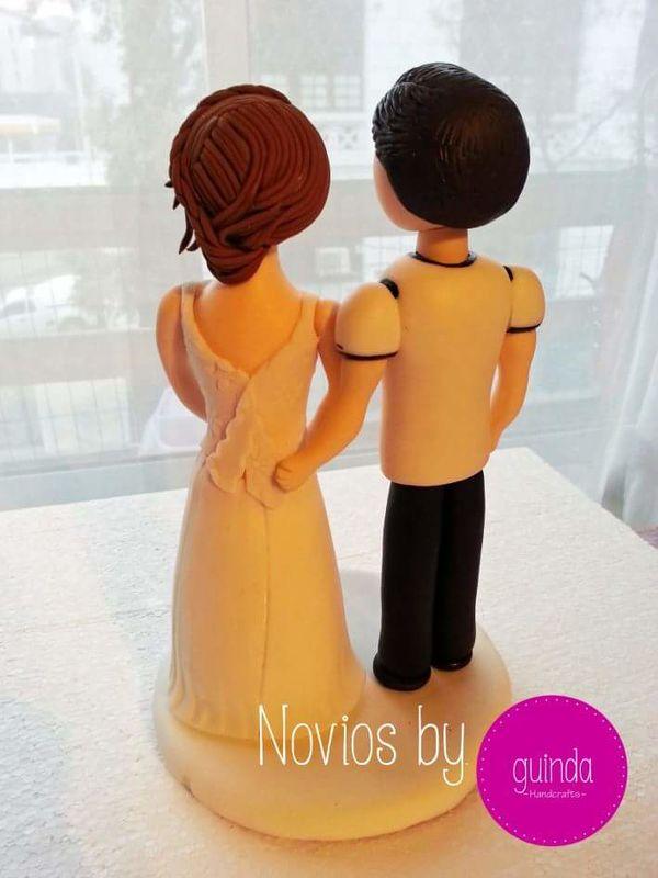Novios Personalizados, en Ceramica en frio, by Guinda