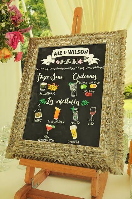 Pizarra bar