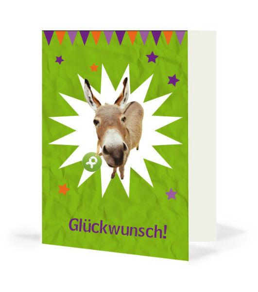 Geschenkkarte Esel