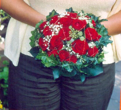 Beispiel: Brautstrauß, Foto: Blumen Reinhard.