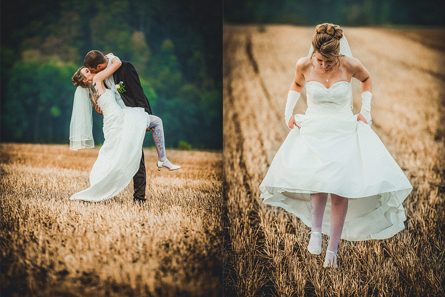 Beispiel: Brautpaarfotos im Spätsommer, Foto: Hochzeitsfotografie Thomas Göbert