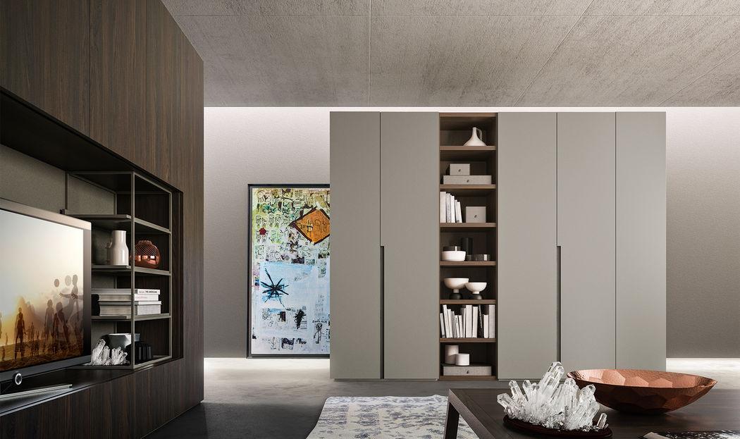 Armadio Go - Alf Da Frè. Go è un armadio Alf Da Frè progettato per poter essere configurato su misura in qualsiasi ambiente e per organizzare gli spazi assecondando le esigenze funzionali più disparate. La sua flessibilità lo rende adatto a tutti gli ambienti della casa, dalla camera da letto al living.