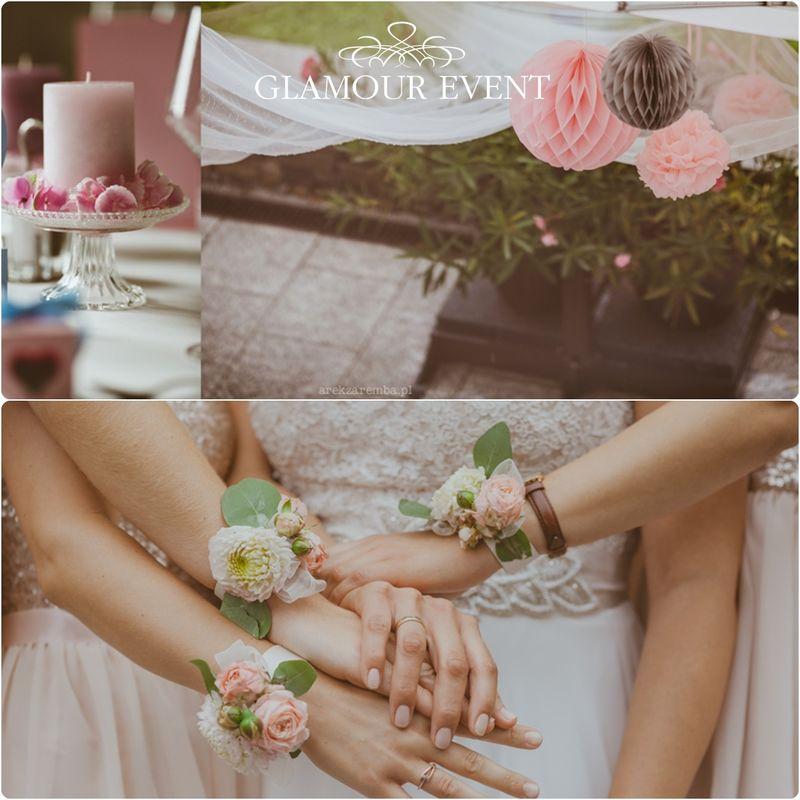 Ślub w kolorach quarz rose & serenity w stylu vintage. fot. Arek Zaremba