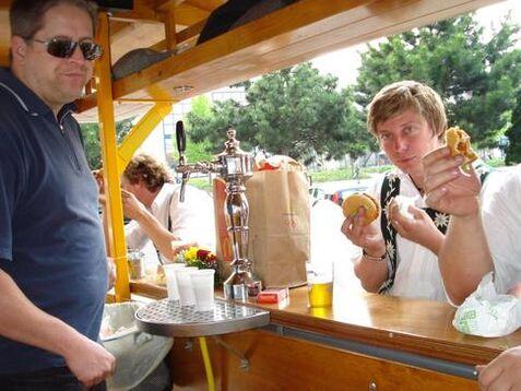 Beispiel: Frisch gezapftes Bier, Foto: BierBike Ulm.
