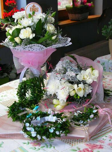 Bukiet z biaych kwiatw