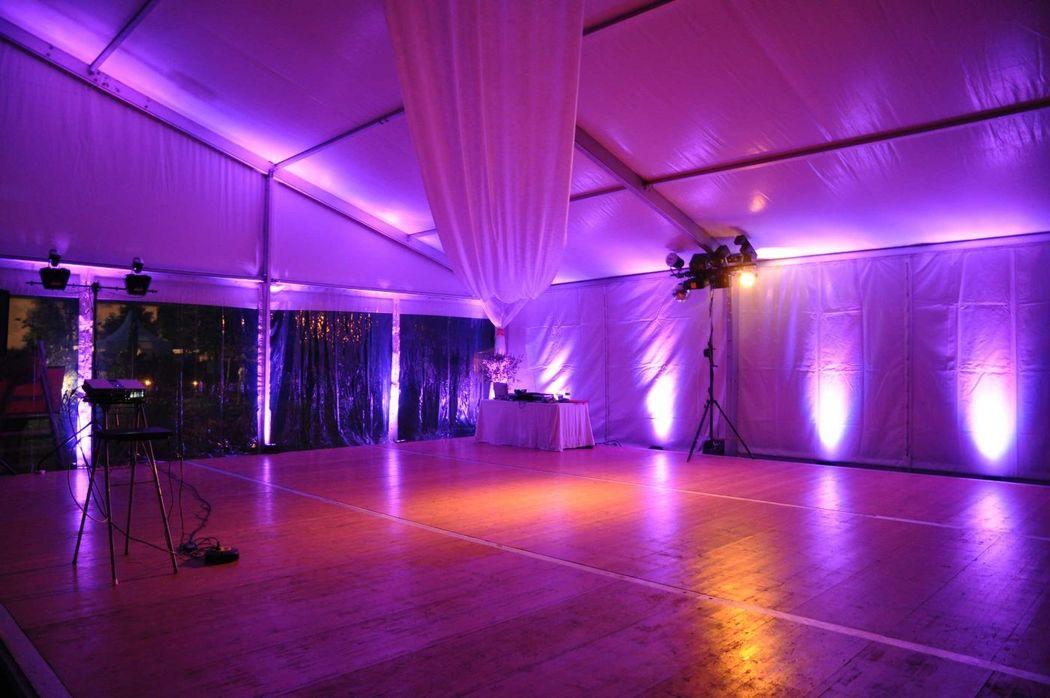 LED en violet.