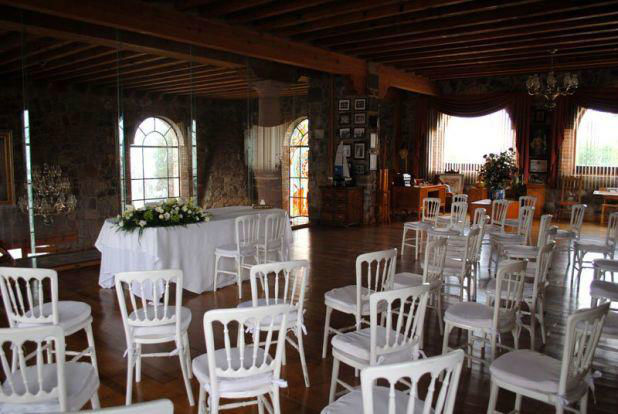 Boda civil en salón