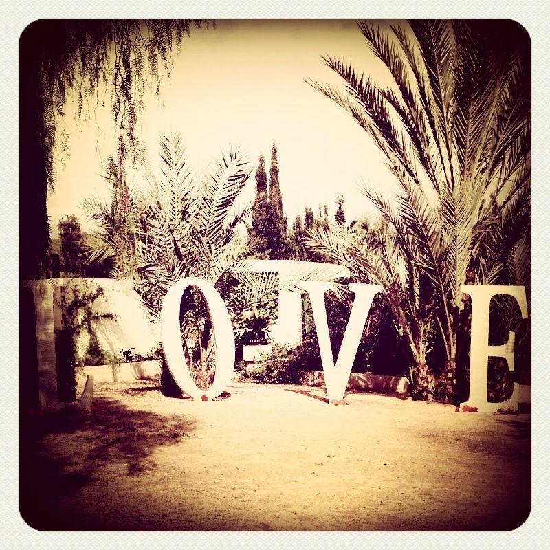 Photocall letras LOVE