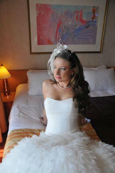 Beispiel: Brautmode die gefällt, Foto: Traum Braut.