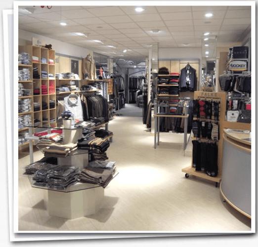 Beispiel: Eindruck vom Ladengeschäft, Foto: Herrenausstatter Willhoeft.