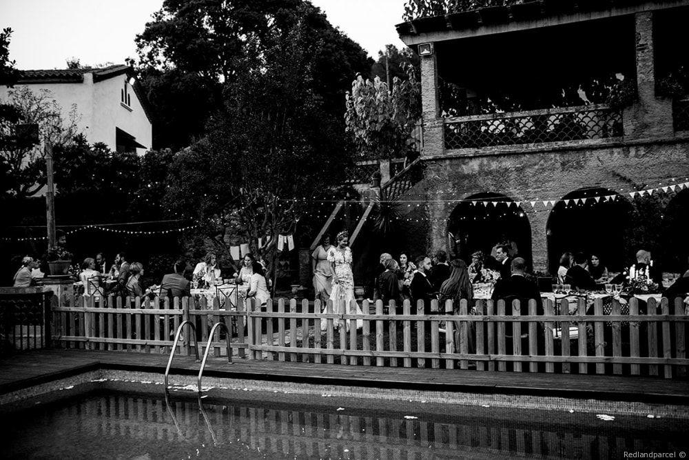 El jardín de la piscina