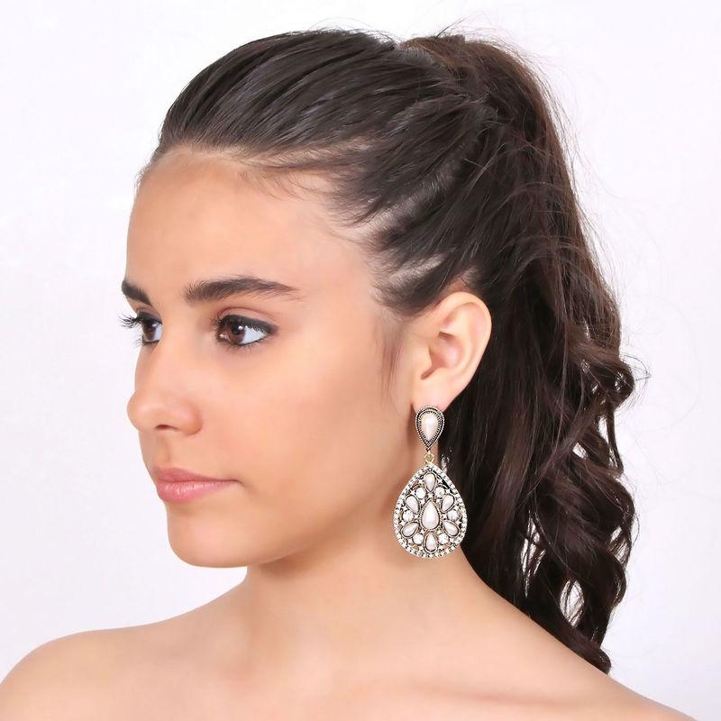 Arya Italian Jewels - Gioielli Sposa e Matrimonio - Orecchini con strass Swarovski e perle