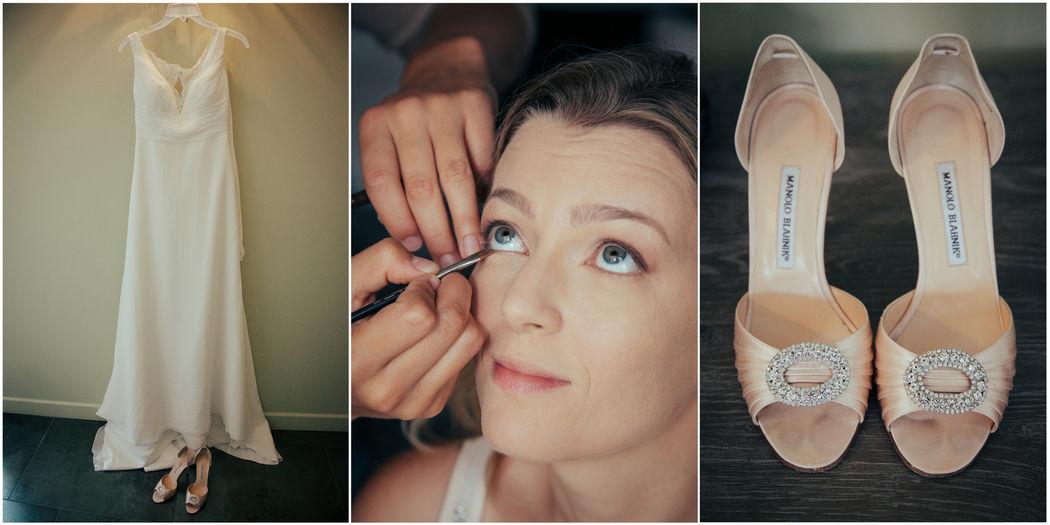 photographe nantes mariage préparatifs mariée robe chaussures maquillage