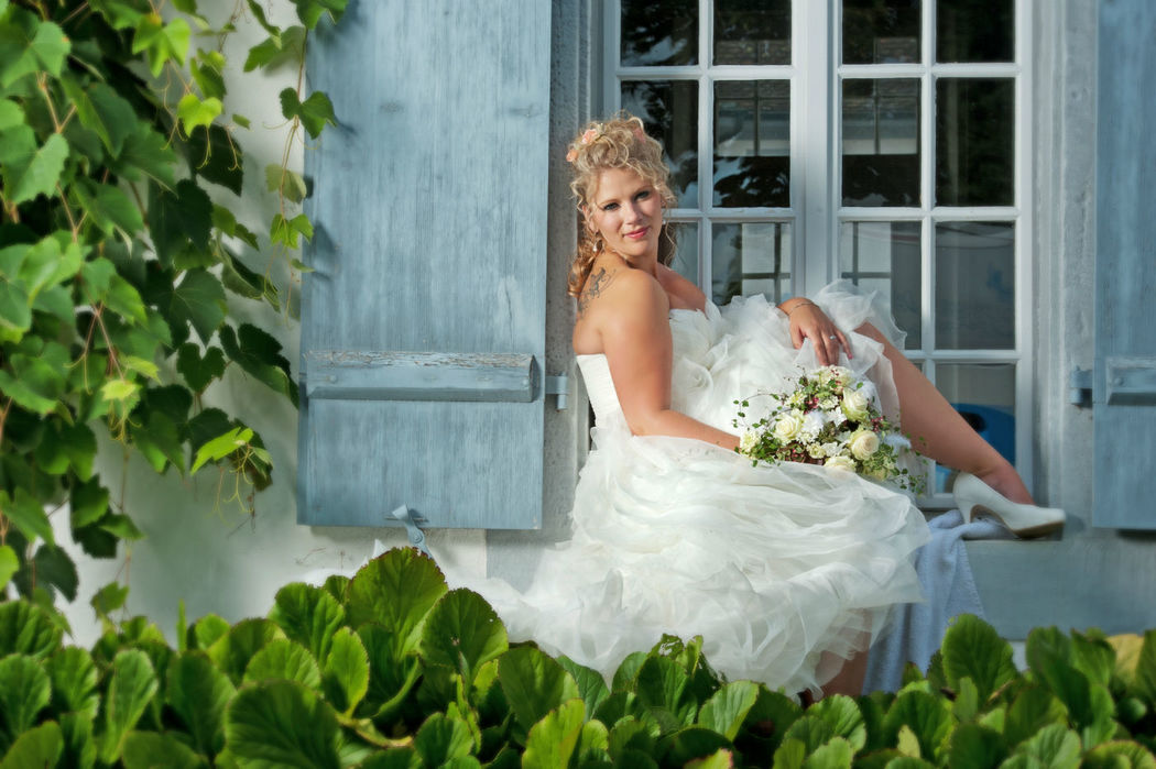 Beispiel: Portrait der Braut, Foto: Bildschmiede Fotografie.