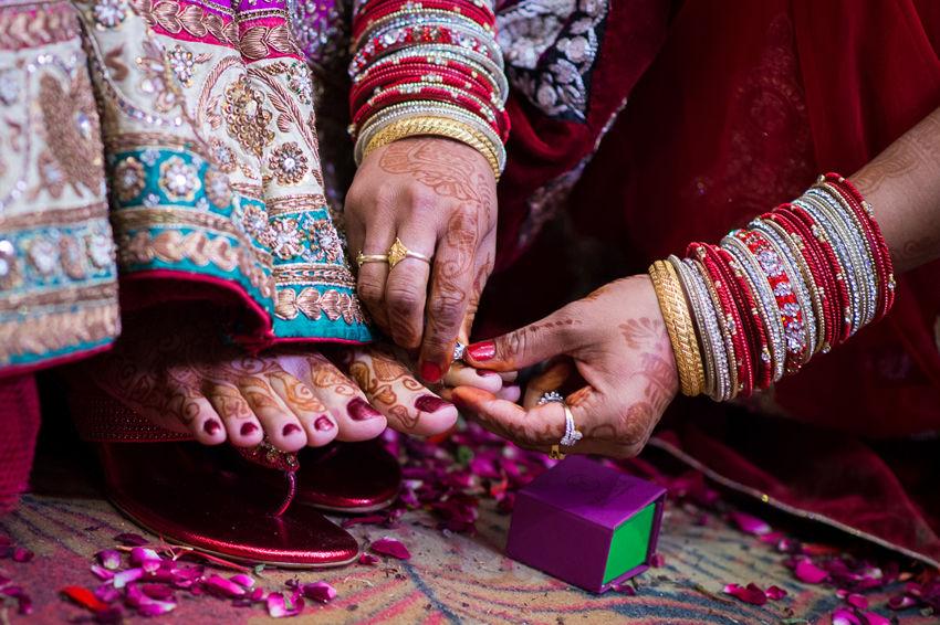 Dettagli matrimonio indiano
