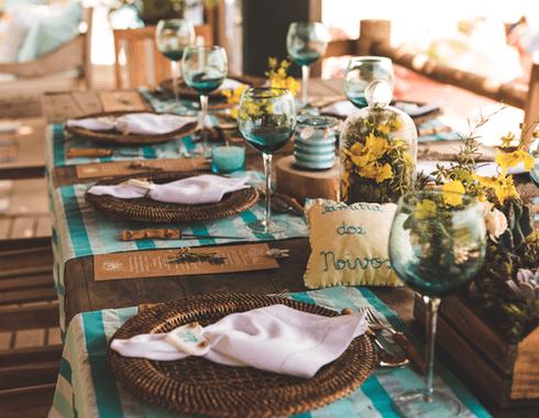 Detalhe da mesa da família
