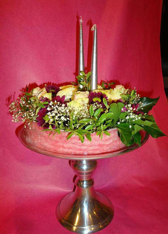 Beispiel: Tischdekoration, Foto: Blumen Hildebrand.