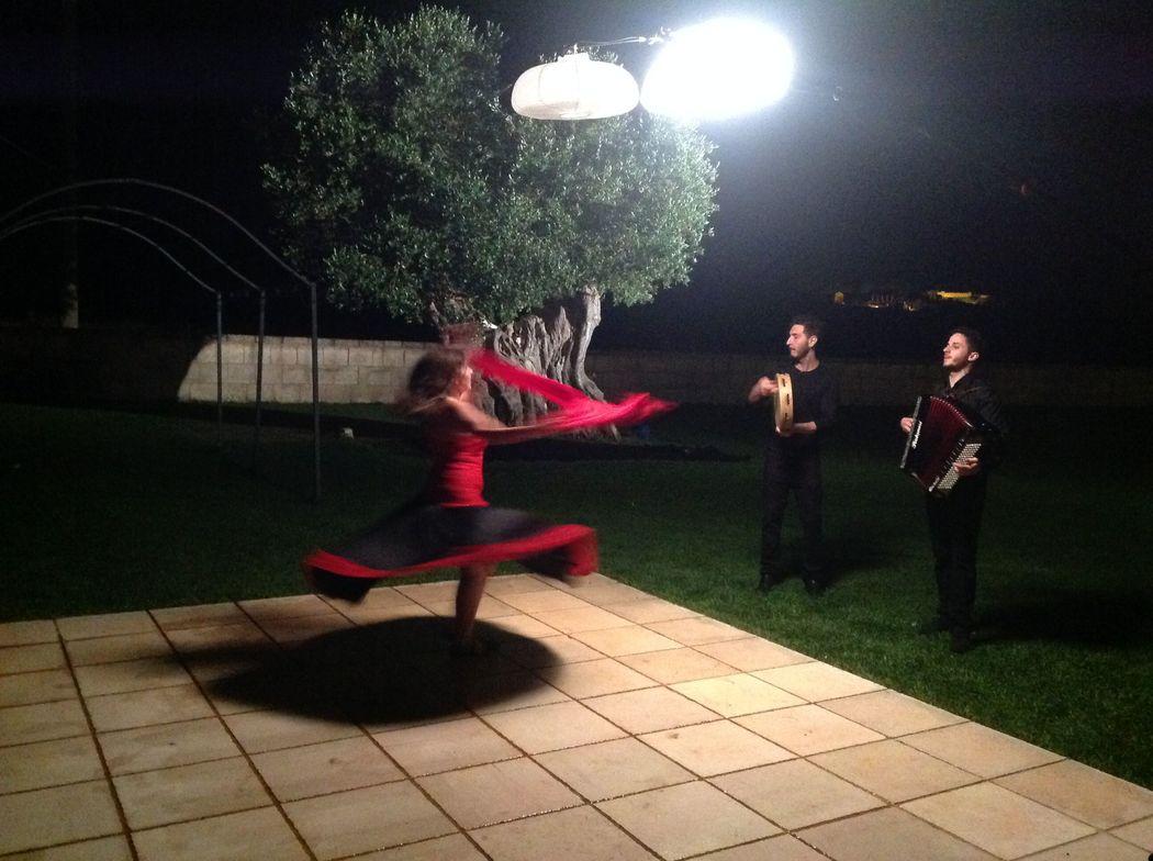 Ballerina e musicisti di