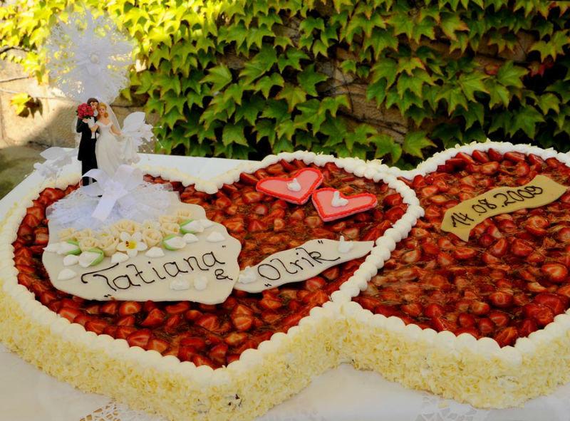 Beispiel: Hochzeitstorte, Foto: Schloß Eckberg.