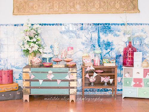Uma candy table para adoçar os convidados