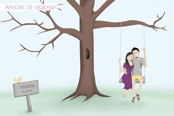 Ilustração & Árvore de Digitais | Tatiana Kuhnert