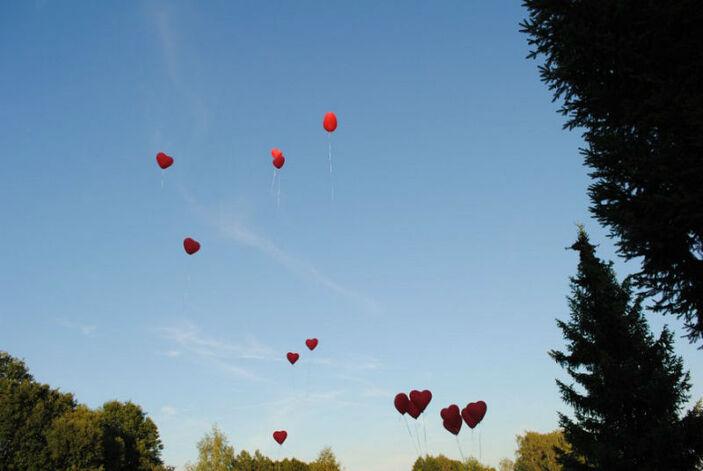 Beispiel: Herzluftballons, Foto: Milanhof.