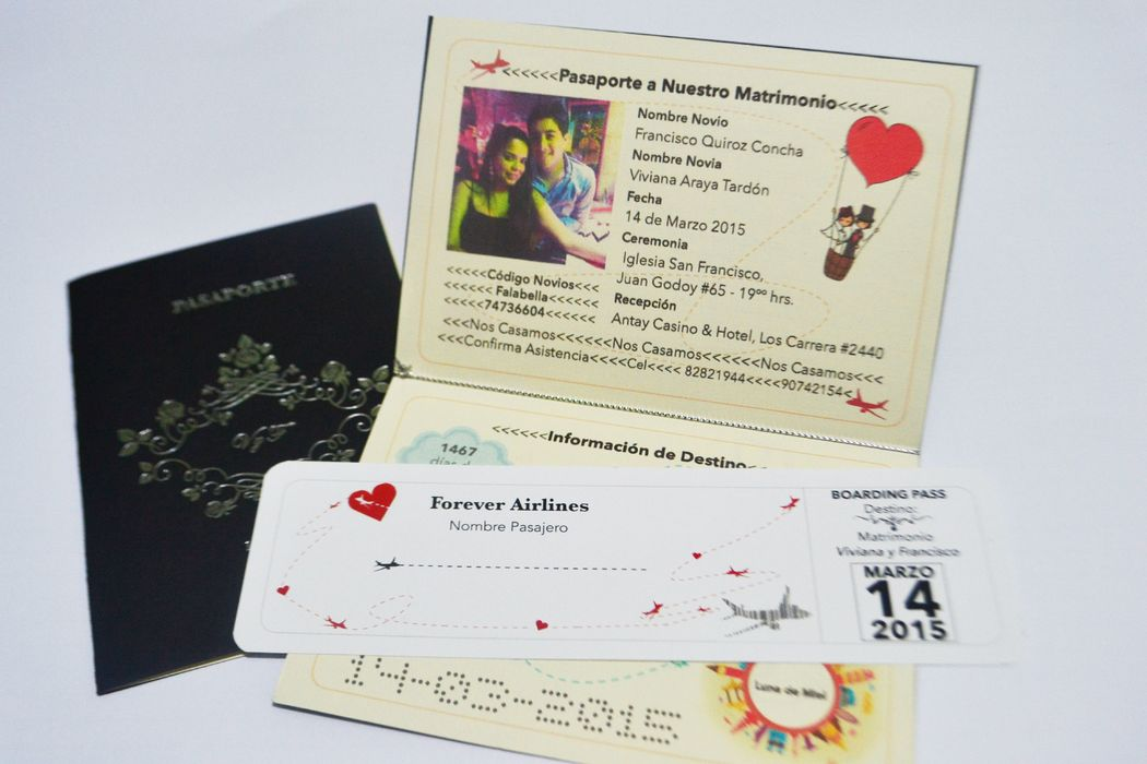 Parte Pasaporte Hot Stamping