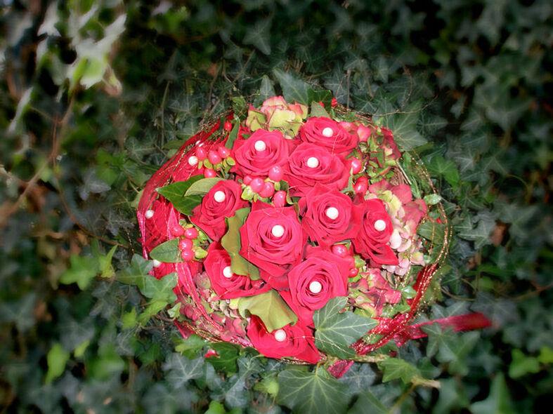 Beispiel: Brautstrauß, Foto: Blumenhaus Reimann.