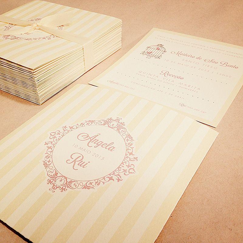 Convites para casamento da Ângela e Rui
