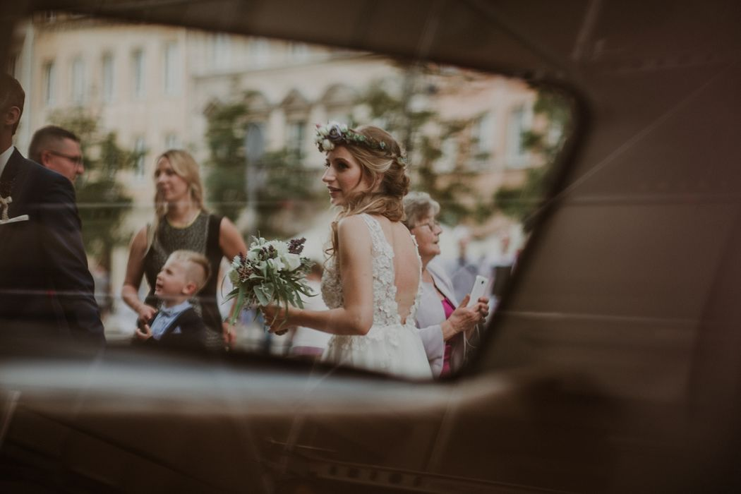 wianek ślubny fotografia