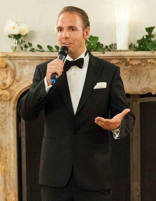 Beispiel: Ronny Leber bei der Moderation, Foto: Ronny Leber Entertainment.